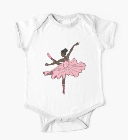 Cute Pink Dance Ballerina Princess One Piece - Short Sleeve