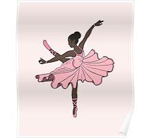 Cute Pink Dance Ballerina Princess Poster
