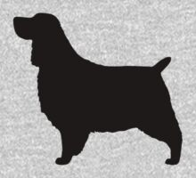 English Springer Spaniel Silhouette by Jenn Inashvili