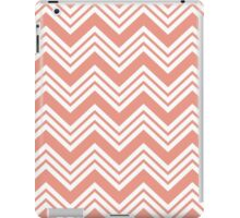 Coral Peach Chevron Stripes iPad Case/Skin