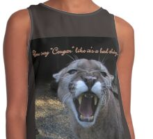 "You Say ""Cougar"" like it's a bad thing. Contrast Tank"
