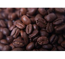 Coffee beans up close Photographic Print