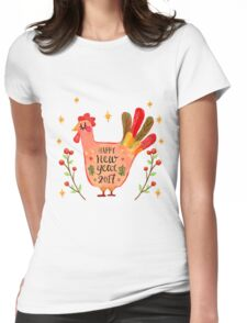 Happy Chinese New Year 2017 Womens Fitted T-Shirt