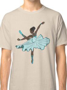 Cute Teal Blue Dance Princess Ballerina Classic T-Shirt