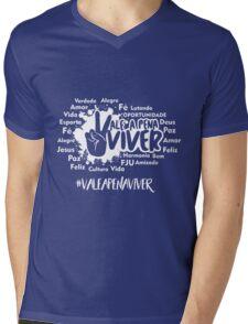 VALE A PENA VIVER Mens V-Neck T-Shirt