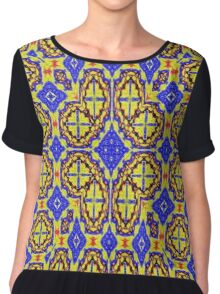 Multicolored Abstract colorful Pattern Chiffon Top