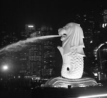 The Merlion - Marina Bay, Singapore by Leanne Allen
