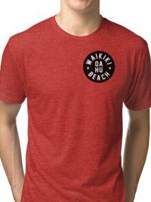 Waikiki beach - Honolulu - Oahu - Hawaii Tri-blend T-Shirt