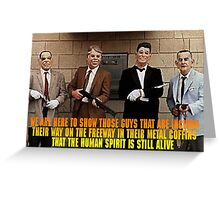 Dead Presidents Greeting Card
