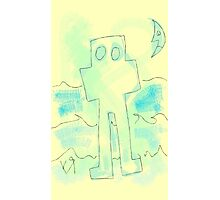 """""""Robot Ghost Takes a Walk by the Ocean"""" by Richard F. Yates Photographic Print"""