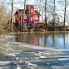 Ice on the River by Lesliebc