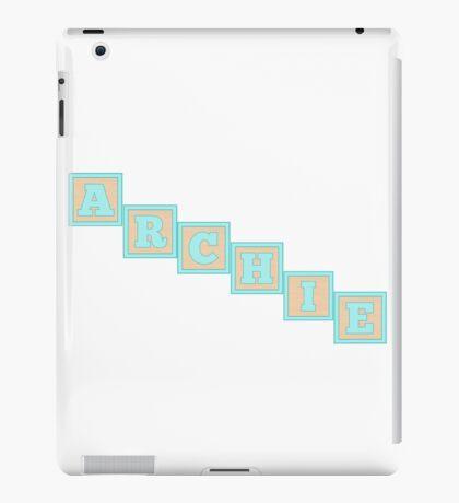 Baby Archie in alphabet building blocks iPad Case/Skin