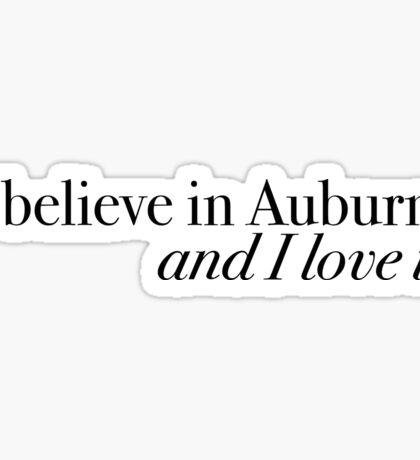 The Auburn Creed Sticker