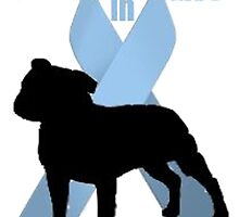 Staffie Bull logo- Bulldoggers Against Prostate Cancer by CoolHandJean
