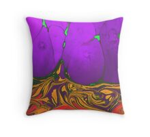 Psychedelic Lava  Throw Pillow
