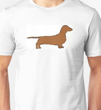 dachshund color silhouette Unisex T-Shirt