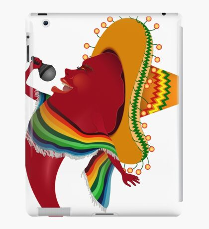 Red chili pepper singing iPad Case/Skin