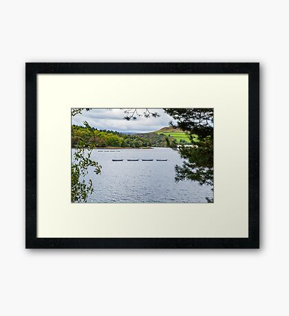 Boats on Ladybower Framed Print