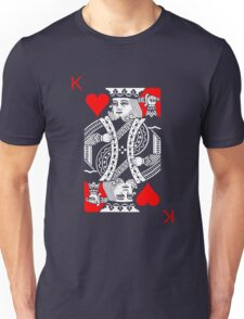 KING OF HEARTS (RED AND BLACK) Unisex T-Shirt