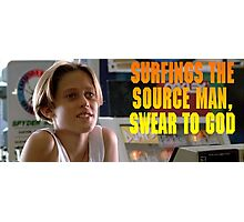 Surfings the source man Photographic Print