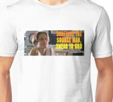 Surfings the source man Unisex T-Shirt