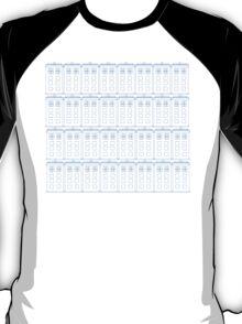 TARDIS Blueprint - Doctor Who T-Shirt