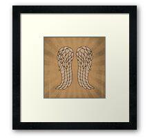 Daryl Wings Framed Print