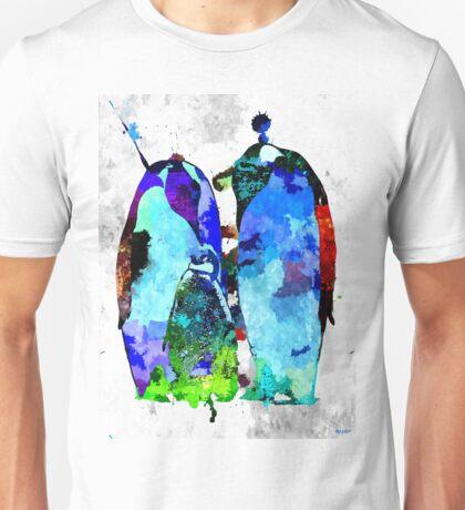 Penguin Family Grunge Unisex T-Shirt