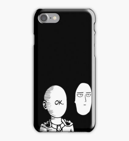 One Punch Man - OK scene reversed iPhone Case/Skin