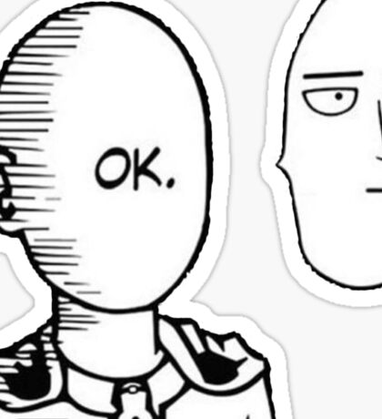 One Punch Man - OK scene reversed Sticker