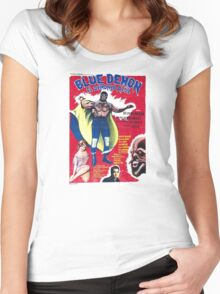 Lucha Blue Demon Women's Fitted Scoop T-Shirt