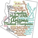 Arizona Legalize Marijuana Cannabis Weed by MarijuanaTshirt