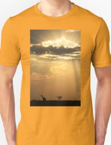 Giraffe Background - Sky Light Wanderer T-Shirt