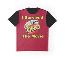 """I Survived """"Uno The Movie"""" Graphic T-Shirt"""