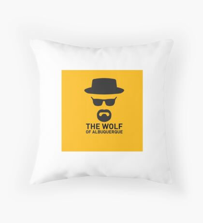 The Wolf Of ABQ Throw Pillow