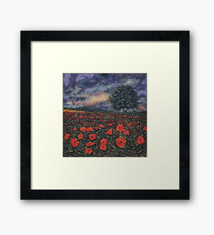 Textured Poppies  Framed Print