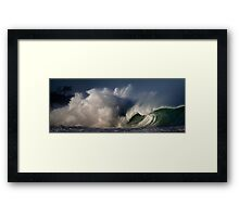 Winter Waves At Waimea Bay 4 Framed Print
