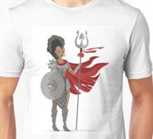 african mohawk trident amazon woman gladiator Unisex T-Shirt