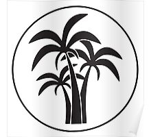 Circled Palm Trees Poster