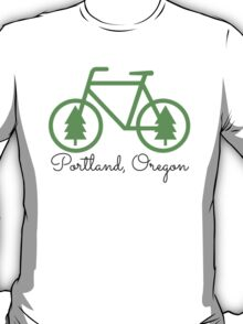 Portland - PDX - City of Trees and Bicycles T-Shirt