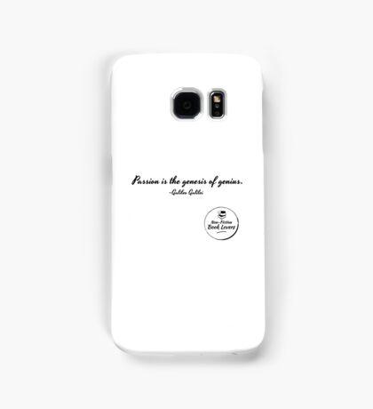 Passion is the genesis of genius - Galileo Samsung Galaxy Case/Skin