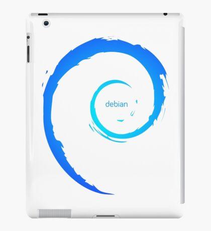 Debian Logo Blue iPad Case/Skin