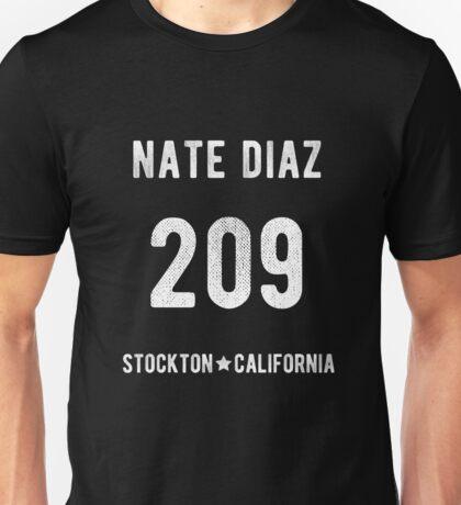 Nate Diaz Stockton 209 Unisex T-Shirt