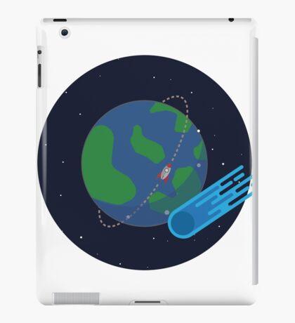 Earth Meteor Space Print iPad Case/Skin