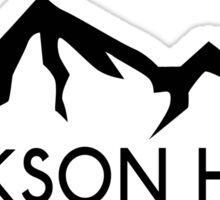 JACKSON HOLE WYOMING Mountain Skiing Ski Silhouette Snowboard Snowboarding 2 Sticker