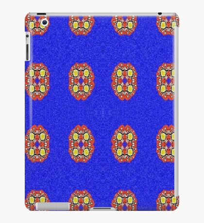 Abstract pattern on blue background iPad Case/Skin