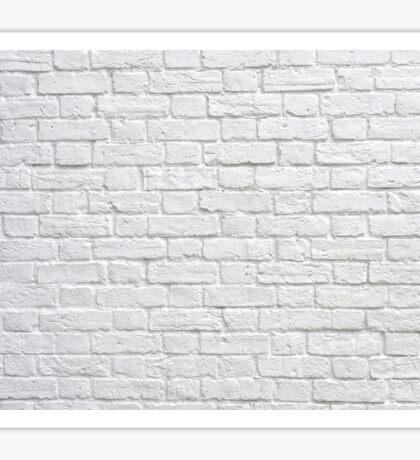 White Brick Wall Sticker