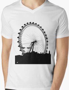 London Eye Mens V-Neck T-Shirt