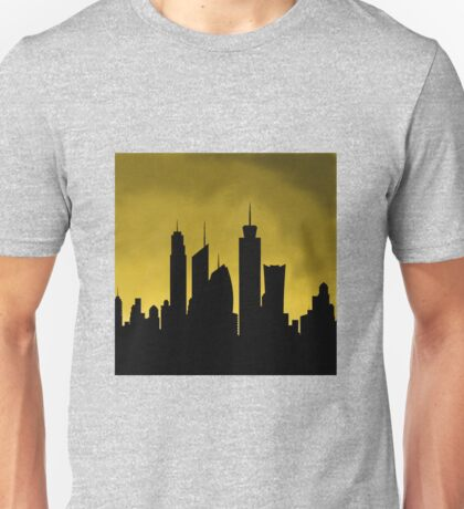 Skylines: Yellow Unisex T-Shirt