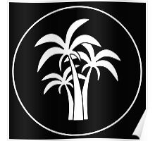 Inverted Palm Tree Logo Poster